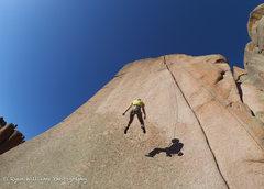Rock Climbing Photo: Fun swing!