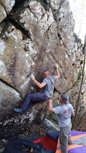 Rock Climbing Photo: Dillon on Alabama 2
