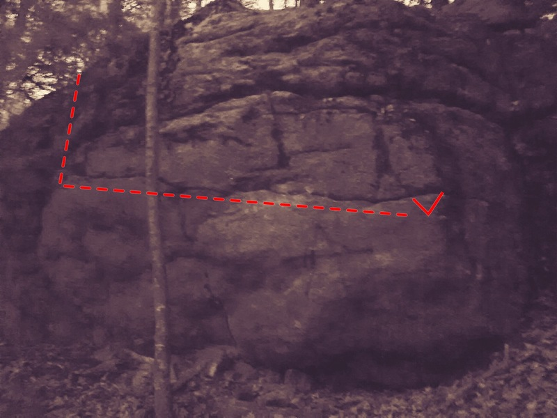 Rock Climbing Photo: The anarchy wall. Follow the horizontal crack