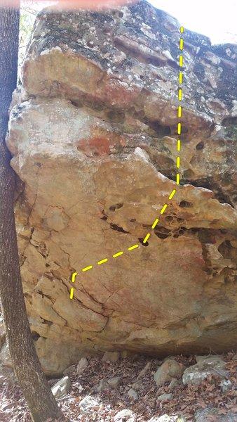 A-hole boulder