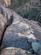 Rock Climbing Photo: Linking pitches 2 & 3 with a 70m rope will bring y...