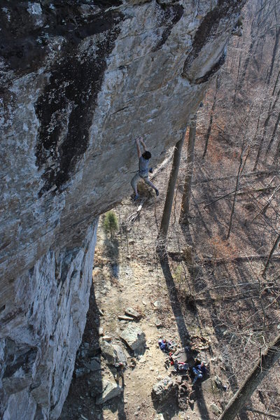Rock Climbing Photo: holding the swing