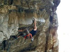 Rock Climbing Photo: Entering the business on The Grizz.