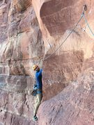 Rock Climbing Photo: Kyle coming around the arete on pitch 1. Past the ...
