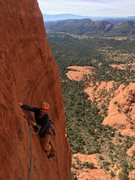 Rock Climbing Photo: Nearing the end of pitch 3. Almost to the heartbre...