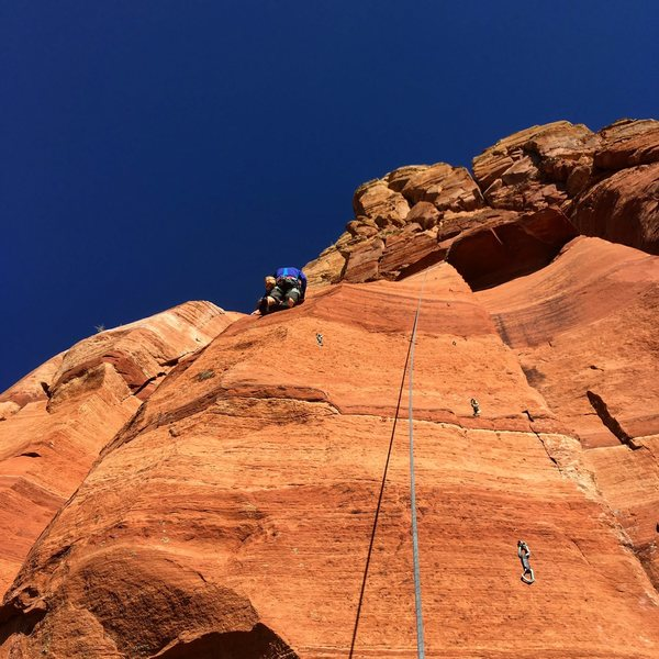 Rock Climbing Photo: LC on Calm Water.  Typhoon heads straight up the r...