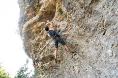 Rock Climbing Photo: Throwing for massive lip. This is a dyno move for ...