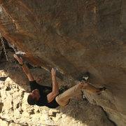 Rock Climbing Photo: TC on the goldline