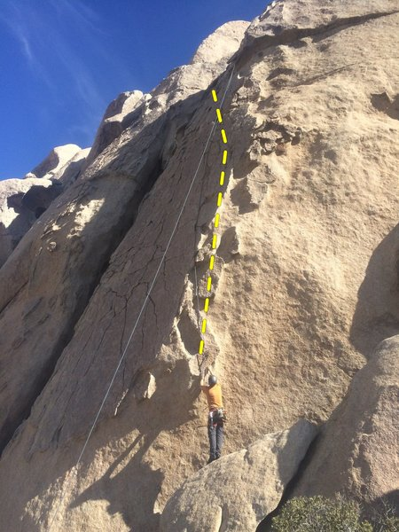 Rock Climbing Photo: I climbed the very right side of patina. If you tr...