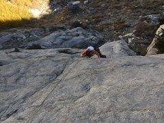 Rock Climbing Photo: cranking the 'crux' move