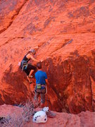 Rock Climbing Photo: Alexandra's first lead in Redrock!