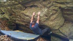"Rock Climbing Photo: Cogi Starting to tackle the bulge of ""Silver ..."