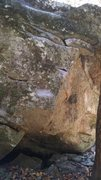 Rock Climbing Photo: Mailslot, the low chalked rail is the start hold.