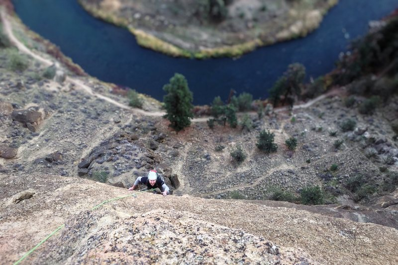 Rock Climbing Photo: Matt on the money pitch: pitch three of Lost in Sp...