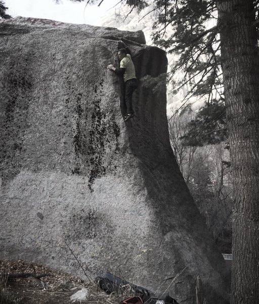 Rock Climbing Photo: sick arete! just don't fall down the east side...