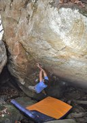 Rock Climbing Photo: Aaron Parlier on the FA of Haunted By Waters