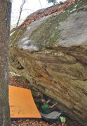 "Rock Climbing Photo: Marshall Gilbert on the start holds of ""Fortu..."