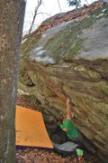"Rock Climbing Photo: Marshall Gilbert on ""Fortunate Son"""