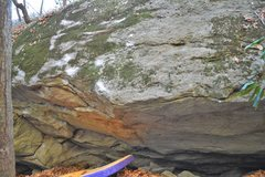 Rock Climbing Photo: Marshanti Mantle. In front of the edge of the pad ...