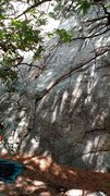 Rock Climbing Photo: Starting zone for The Rusty-P (5.7), Mosaic Rock, ...