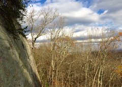 Rock Climbing Photo: Chuck on Shots Fired, Jamestown, AL.