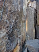 Rock Climbing Photo: The start is just in front of this boulder on top ...