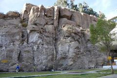 Rock Climbing Photo: Picture of the wall, all 1 pitch climbs