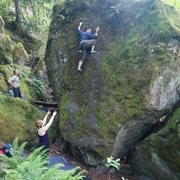 Rock Climbing Photo: Bouldering at Carver in Portland, OR.