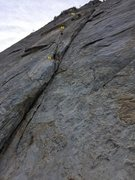 Rock Climbing Photo: First 3 pitches of Central Pillar of Frenzy