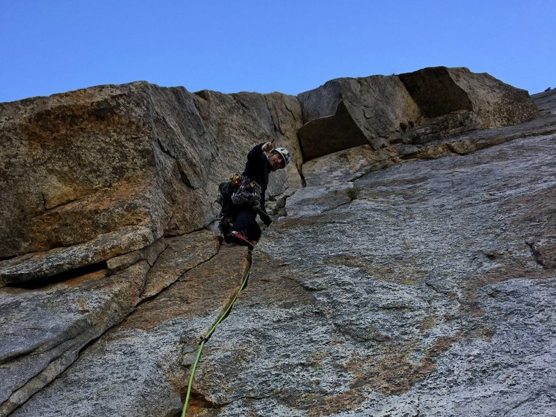 Kia leading pitch 3 roof on Central Pillar of Frenzy