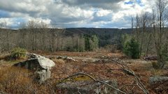 Rock Climbing Photo: Looking down at Camp 70 road from the powerline bo...