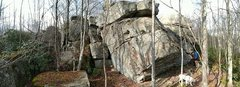 Rock Climbing Photo: First set of big boulders to the East of the power...