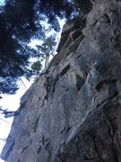 Rock Climbing Photo: After the crux it's a jug fest to the anchor.