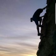 James darden free soloing in garner at sunset
