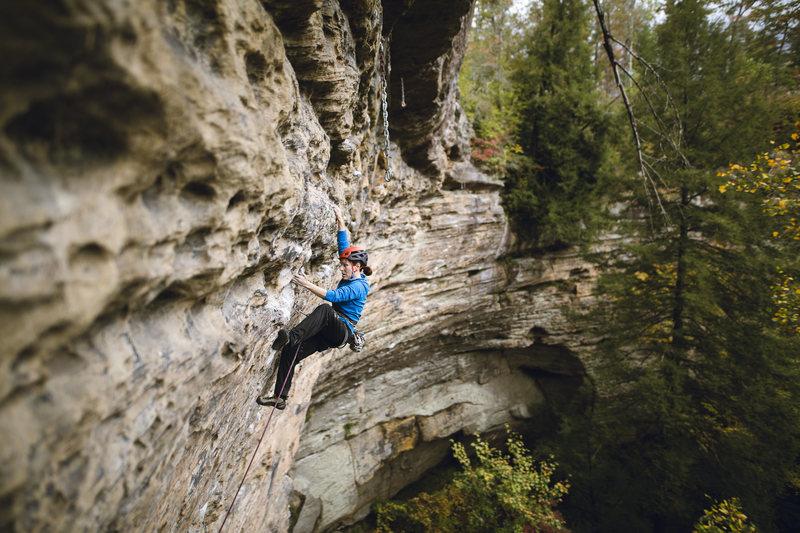 Rock Climbing Photo: Working my way up...Photo by John Wesley
