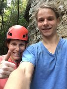 Rock Climbing Photo: Yes, you can climb at Sunnyside in the pouring rai...