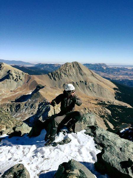 On the summit of Blanca