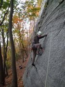 Rock Climbing Photo: The crux was getting the pro in for this move.