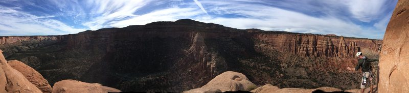 The view from the big ledge.