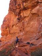Rock Climbing Photo: big move to a big jug.
