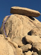 Rock Climbing Photo: Fun route with a cool position underneath the icon...