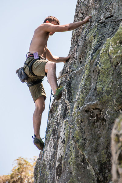 Rock Climbing Photo: going for it