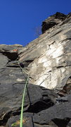 Rock Climbing Photo: Looking up pitch 2