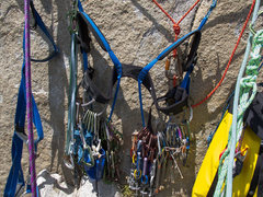 Rock Climbing Photo: Hanging rack.