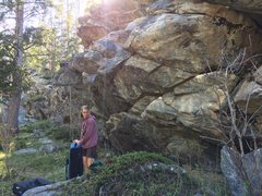 Rock Climbing Photo: Some great rock behind the old Crazy Woman campgro...