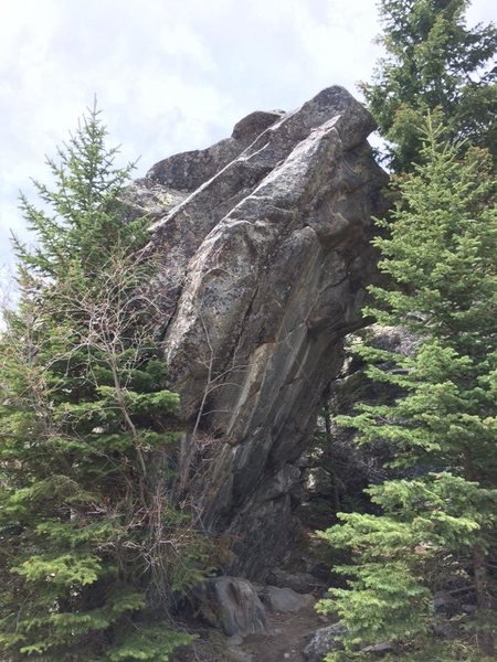 Rock Climbing Photo: One of the coolest lines in the area(maybe the sta...