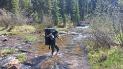 Rock Climbing Photo: Creek crossing above Crazy Woman Campgrounds