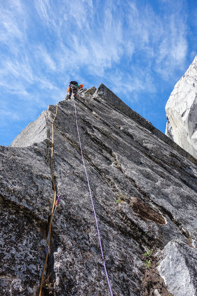 The 5-star bolted arete pitch. [Photo] Megan Kelly