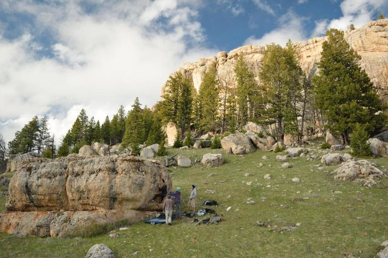 Bring the pads too, there's tons of fun little boulders scattered across the hills