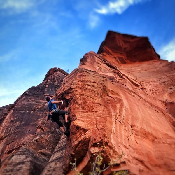 Rock Climbing Photo: On lead: Enter The Dragon